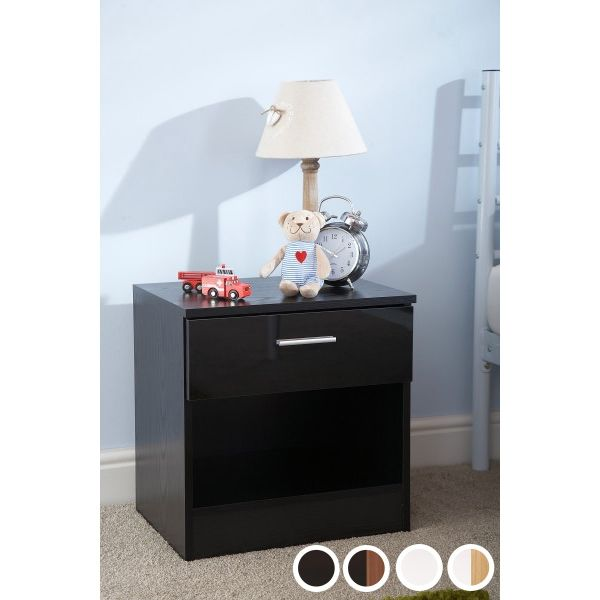 Ottawa 1 Drawer Bedside Table - 4 Colours