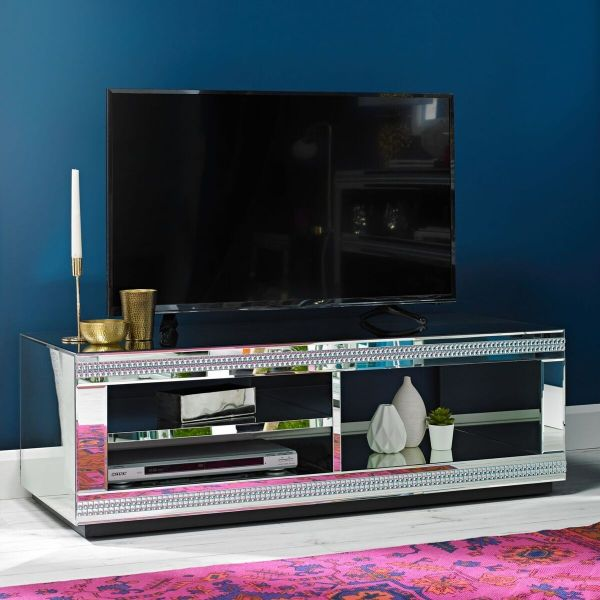 LPD Biarritz Mirrored TV Stand