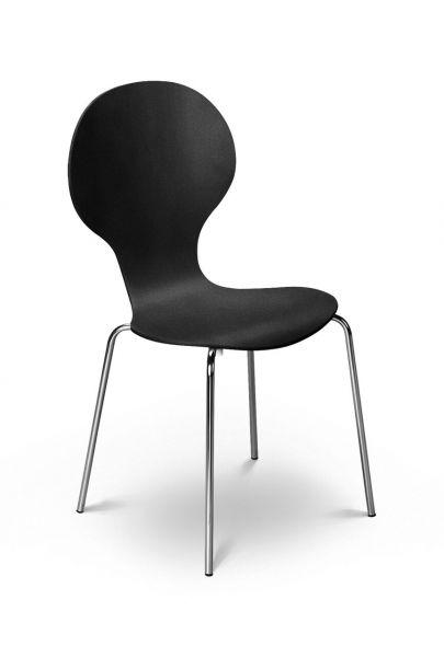 Julian Bowen Keeler Bentwood Chair - Black, White, Maple