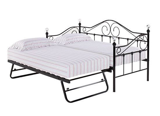 LPD Florence Metal Underbed Trundle - White or Black