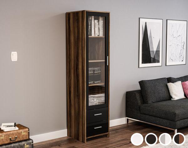 Birlea Edgeware Glass Door Storage Cabinet - 4 Colours