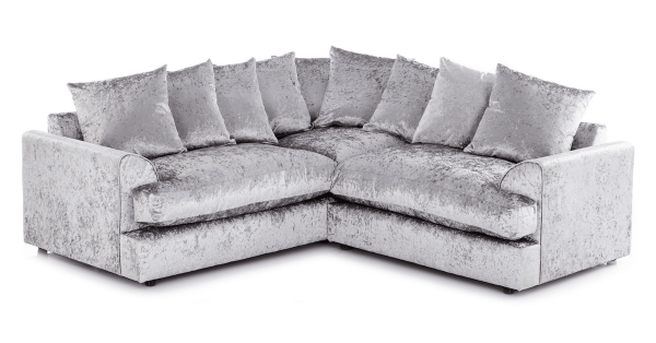 Elaine Crushed Velvet Corner Sofa Suite