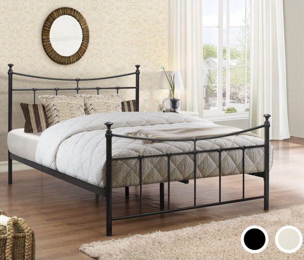 Birlea Emily Black or Cream Metal Bed Frame