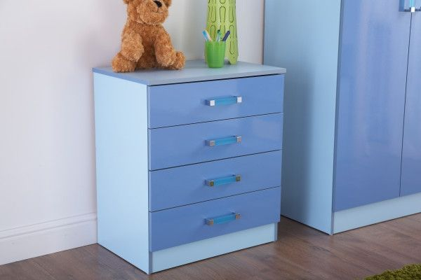 O2Tones 4 Drawer Storage Chest - Blue or Pink
