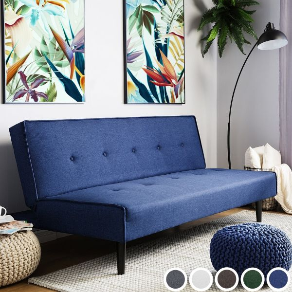 Tisby Fabric Sofa Bed with 3 Seater - 5 Colours