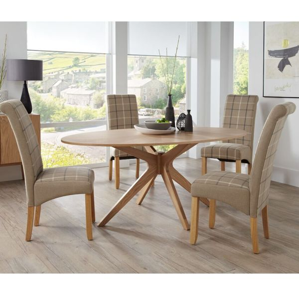 Bexley Large Oval Oak Dining Table
