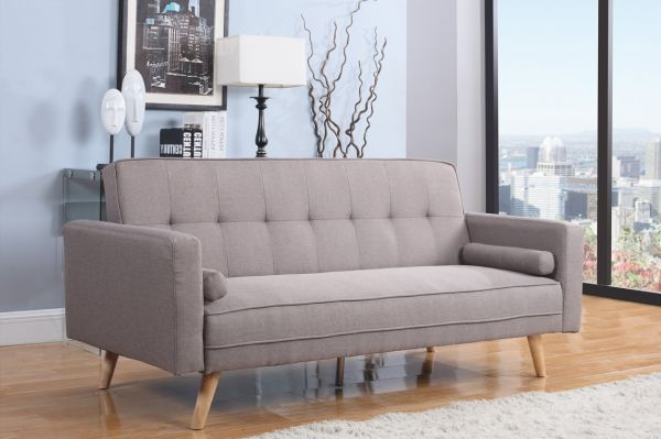 Birlea Ethan Large Grey Fabric Sofa Bed