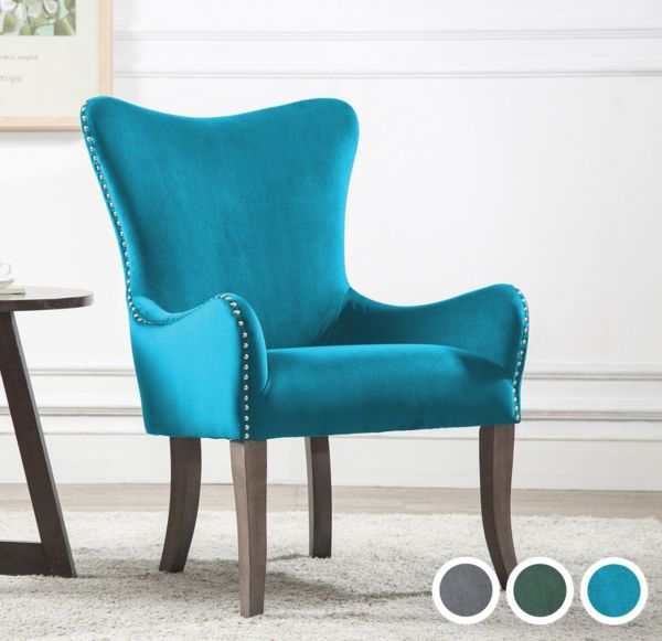 Birlea Ellis Wing Armchair - Blue, Green or Grey