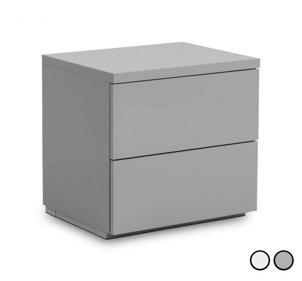 Julian Bowen Monaco 2-Drawer Bedside Table - White or Grey