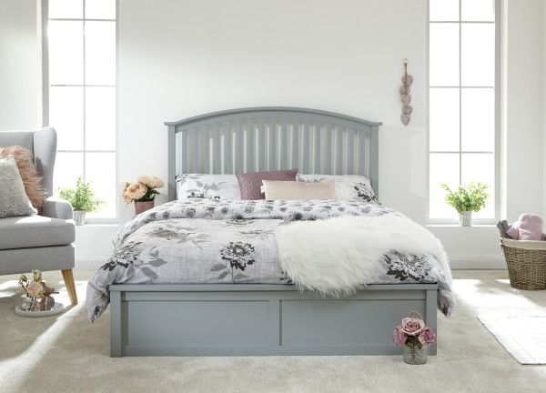 Madrid Wooden Ottoman Bed & Mattress Options - White, Oak or Grey