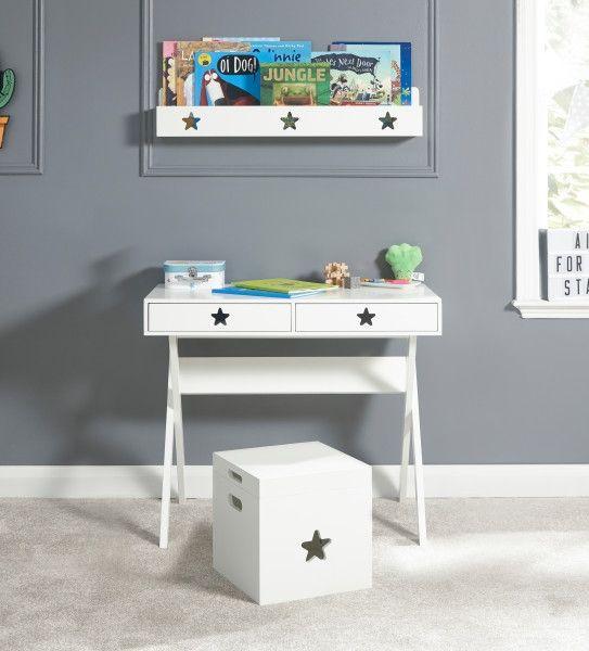 Star 2 Drawer Study Desk Table - White
