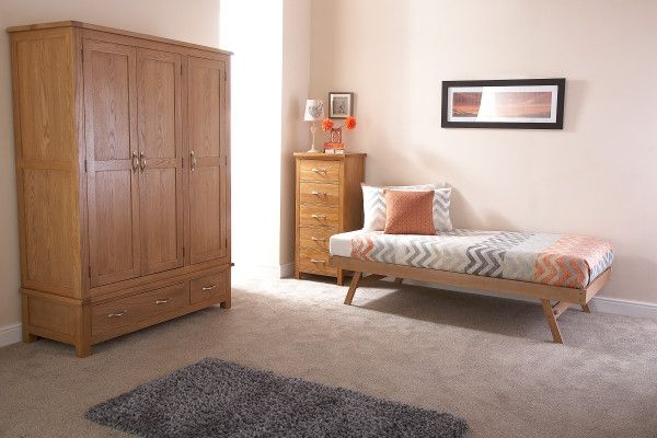 Madrid Wooden Trundle - Oak or White
