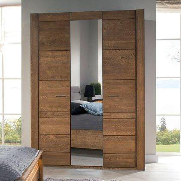 Valerie 3-Door Wardrobe 160cm - Rustic Oak