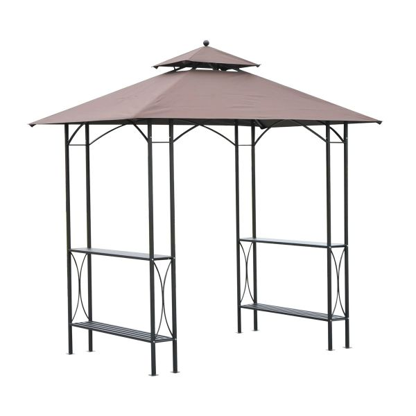 Outsunny BBQ Tent - Black/Coffee