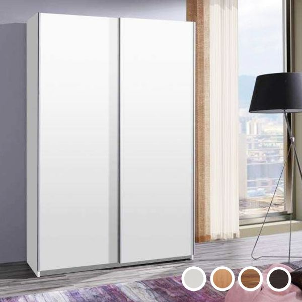 Fiona 135cm Sliding Door Wardrobe - White, Walnut, Alder, Wenge