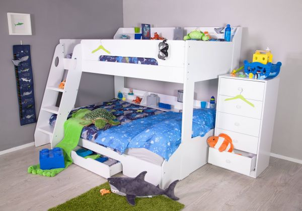 Flick Triple Bunk Bed - Maple or White