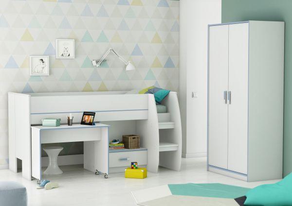 Switch White Storage Mid Sleeper Bed