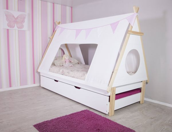 Kid's Teepee Tent Bed Frame & Trundle