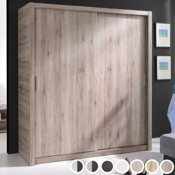 Pallas 2-Door Sliding Wardrobe 180cm - 7 Colours