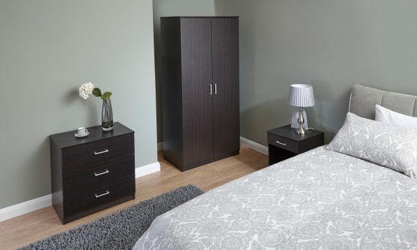 Panama 3PC Bedroom Furniture Set - Espresso, Oak or White