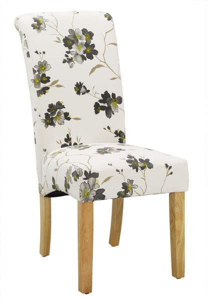 LPD Freya Floral Fabric Dining Chair x2