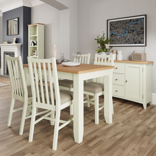Luxury 1.2m Butterfly Extending Dining Table - White