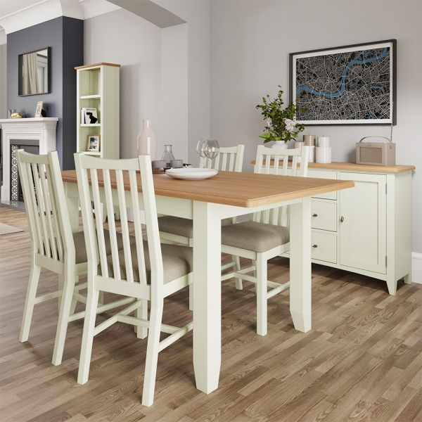 Luxury 1.6m Butterfly Extending Dining Table - White