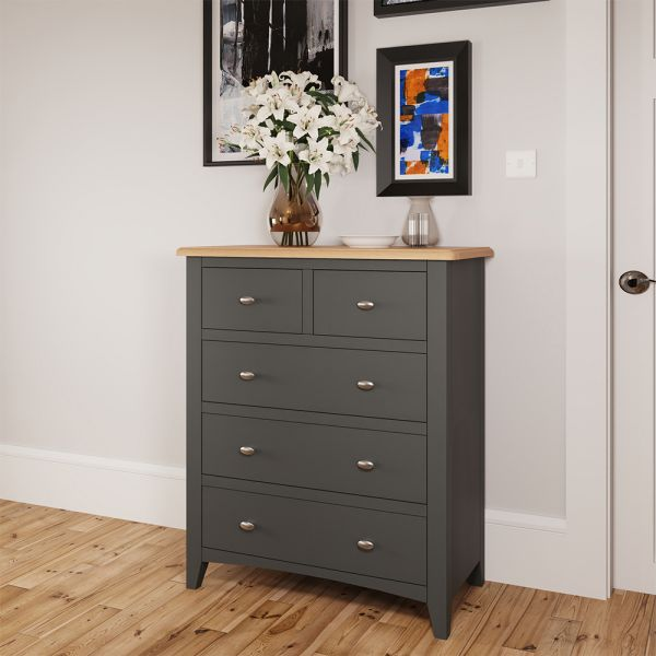 Juniper 2 Over 3 Chest of Drawers - Grey