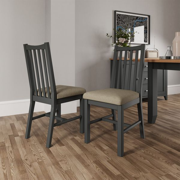 Pair of 2 Juniper Dining Chair - Grey