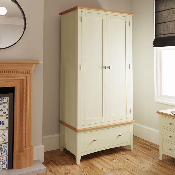 Luxury 2 Door Double Wardrobe - White