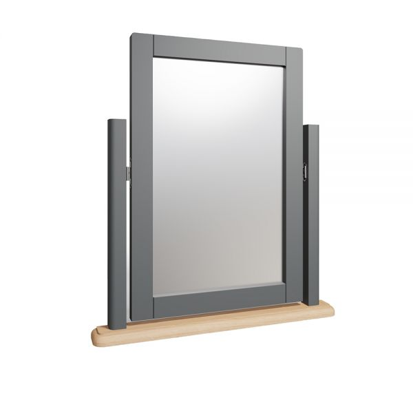 Juniper Trinket Mirror - Grey