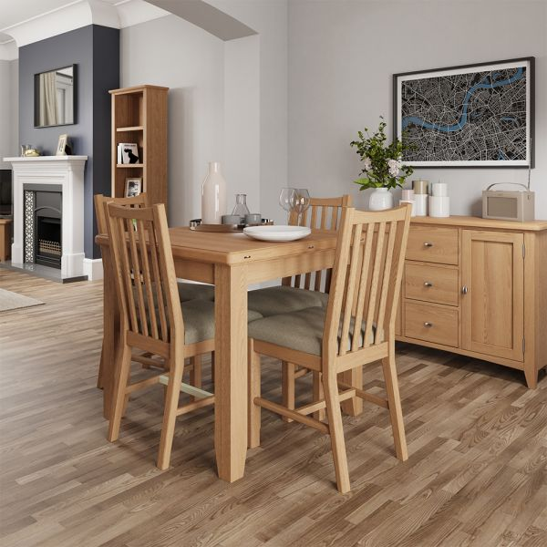Ocado Flip Top Dining Table - Light Oak