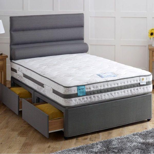 Vogue Cloud Ottoman Gel Feel Foam Divan Bed 6FT Super King - 1500 or 2000 Pocket