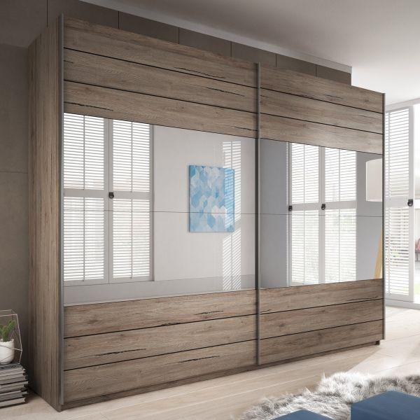 Galaxy San Remo Oak 2-Door Sliding Wardrobe - 3 Sizes