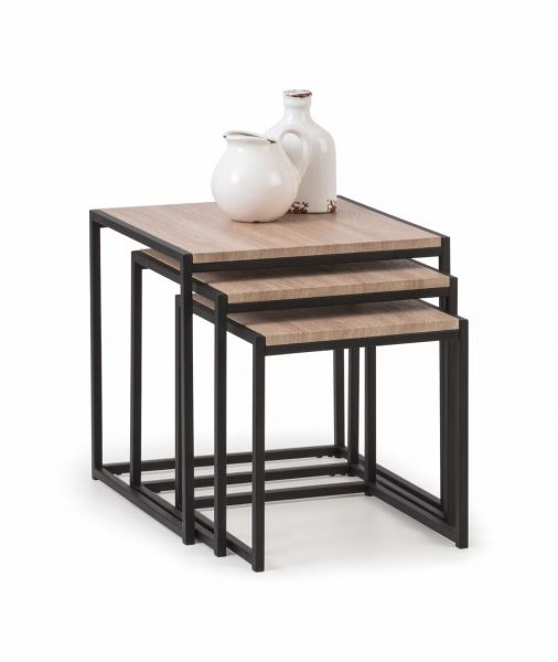 Julian Bowen Tribeca Industrial Nest of Tables