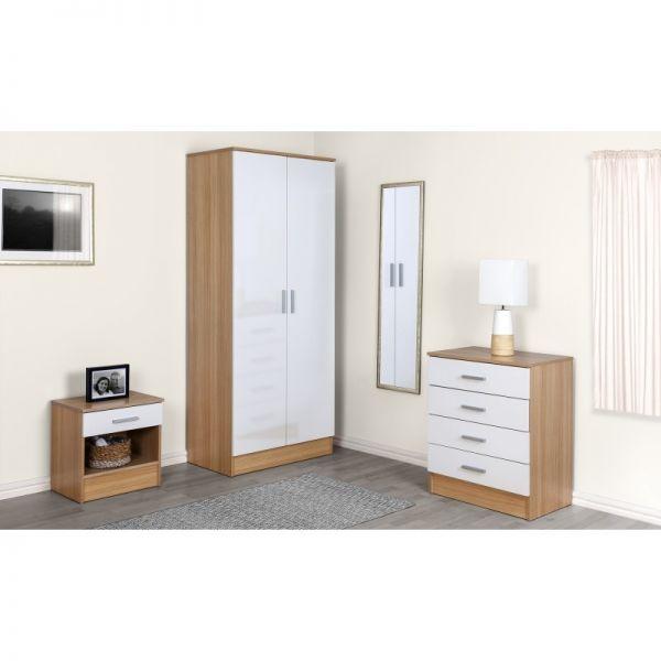 Galaxy 3PC 2-Door Wardrobe Set - 4 Colours
