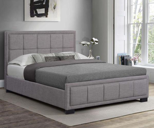 Birlea Hannover Grey Fabric Bed Frame