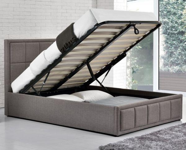 Birlea Hannover Grey Fabric Ottoman Storage Bed