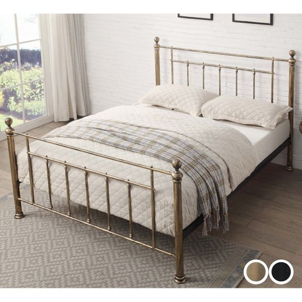 Harpenden Metal Bed Frame in 2 Sizes - 2 Colours
