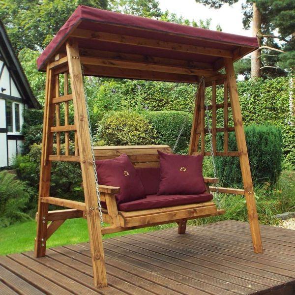 Dorset 2 Seater Swing - Burgundy