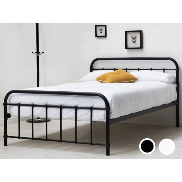 Henley King Metal Hospital Dorm Bed - White or Black