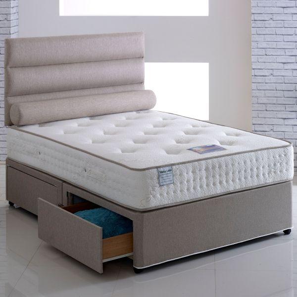 Vogue Latexpaedic Ottoman Orthopaedic Latex Divan Bed 6FT Super King