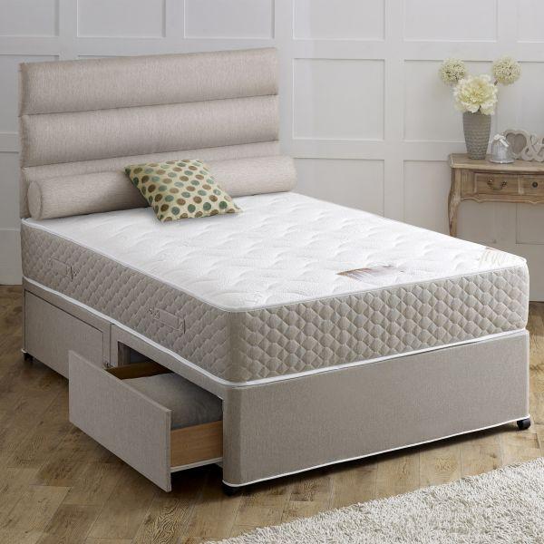 Vogue Ortho Revive Ottoman 1000 Pocket Divan Bed 6FT Super King