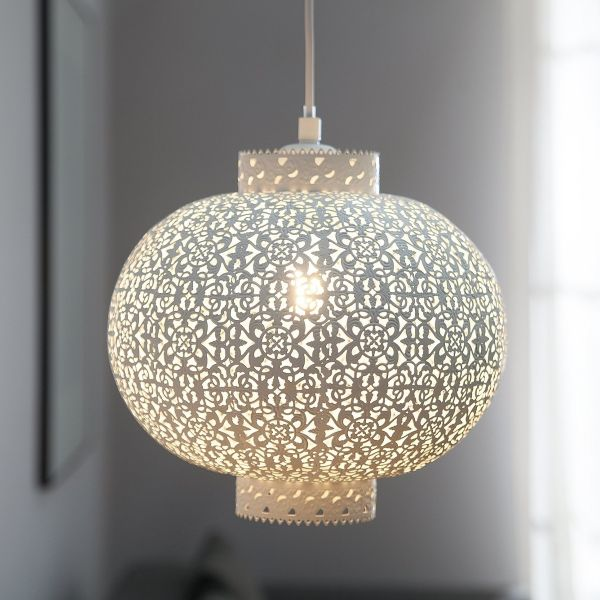 Muse Oriental Metal Pendant Lamp - White