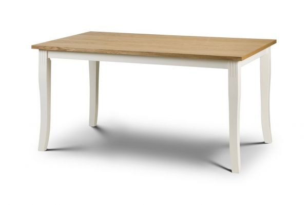 Julian Bowen Davenport Ivory Oak Dining Table