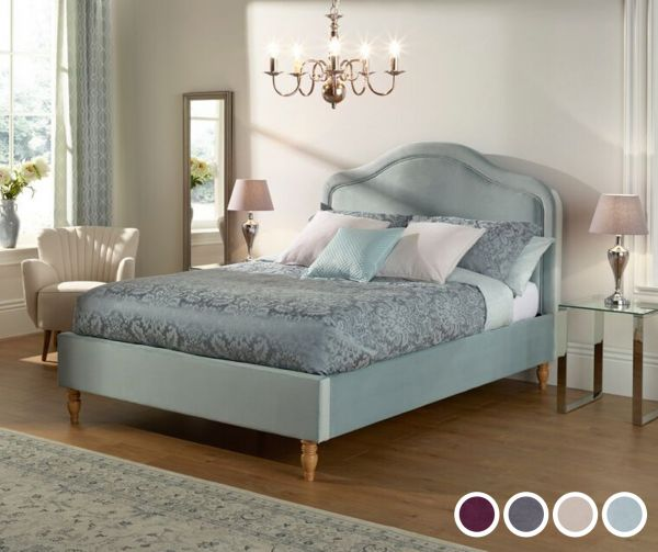 Joyce Fabric Bed - 3 Sizes - 2 Colours