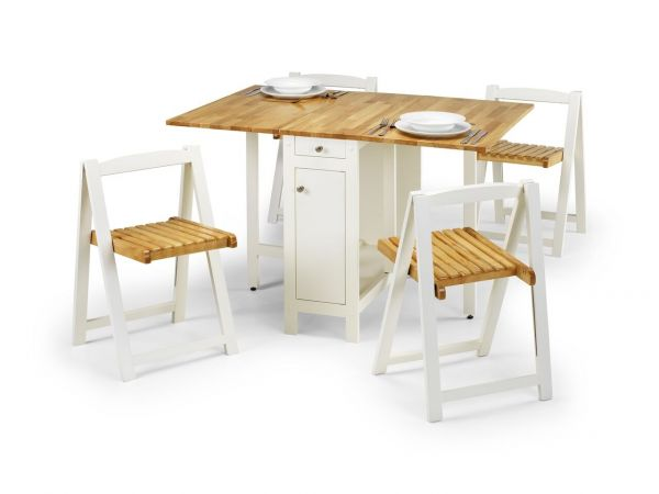 Julian Bowen Savoy Folding Dining Set - Oak or White