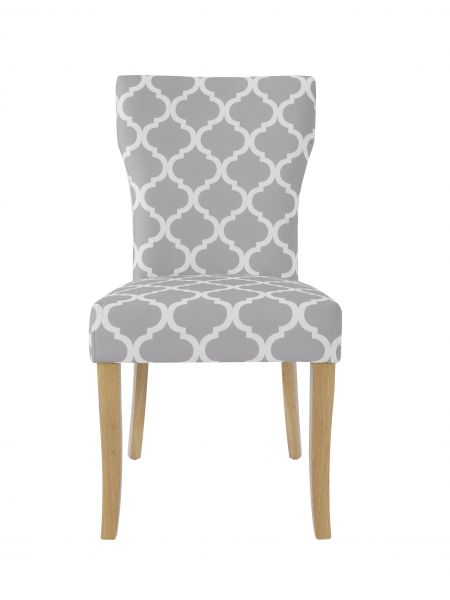 LPD Hugo Avant-garde Fabric Dining Chair x2
