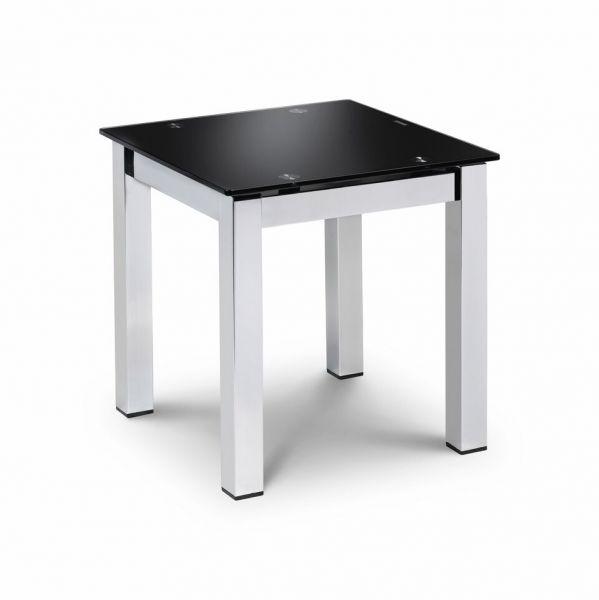 Julian Bowen Tempo Black Glass Lamp Table