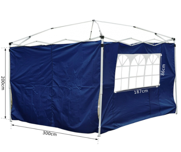 Outsunny 3m Gazebo Exchangeable Side Panels - Blue, Green and Black